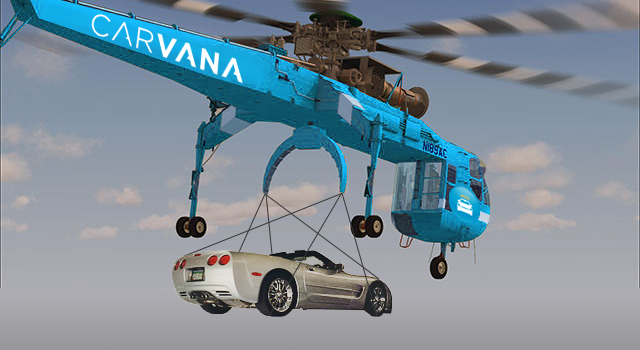Carvana to Introduce Air Deliveries for Vehicles through CarCopters