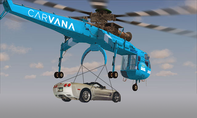 Following Amazon's Footsteps, First Online Auto Retailer to Offer Car Deliveries via Helicopter